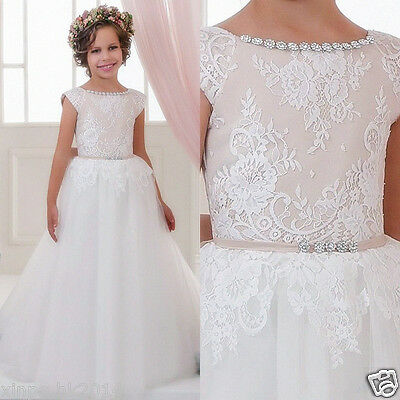 Flower Girl Dress Communion Pageant Party Graduation Bridesmaid Wedding Dress