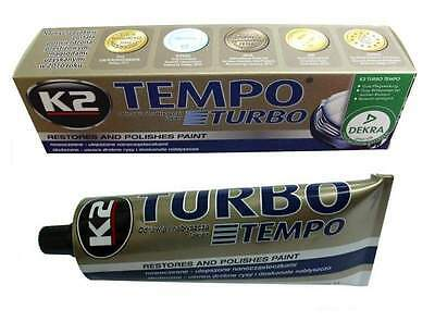 K2 Pro TURBO Tempo Wax Polishing Paste Scratch Remover Restores Car Paint 120g