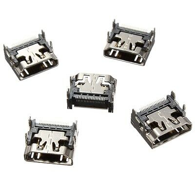2x HDMI Socket 90° 19 pin Type A Panel SMT Female Pin Connector DIP 4 Legs