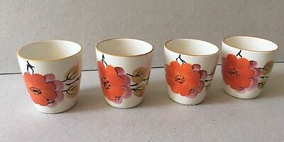 Vintage 1950s Hand painted Egg Cups Set Of Four