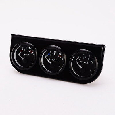 "2"" 52mm Car Gauge LED Pointer - Voltmeter+ Water Temp Gauge+ Oil Press Gauge"
