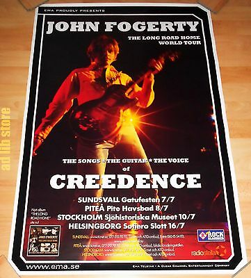 "JOHN FOGERTY CREEDENCE - 35"" x 23.5"" SWEDEN TOUR POSTER 2006"