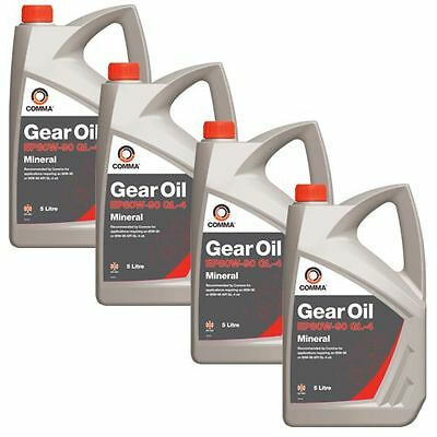 4 Bottles Comma Go45L 5L Ep80W90 Gl4 Gear Oil - Free Tracked Postage