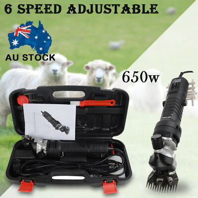 New 650W Electric Sheep Shearing Supplies Goats Clipper Shear Shears Alpaca Farm