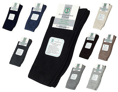 6 Pack Mens Diabetic Socks - mid. weight Quality - Comfort Band and Handlinked