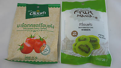 2 Packs Dehydrated 100% Natural Kiwi Cherry Tomato dried fruit Candy Snack Sour