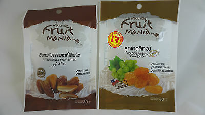2 Packs Dehydrated 100% Natural Golden Raisin Date Palm dried fruit  Snack Sweet