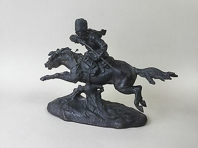 Old  Spelter Figure of a Russian Cossack on Horseback