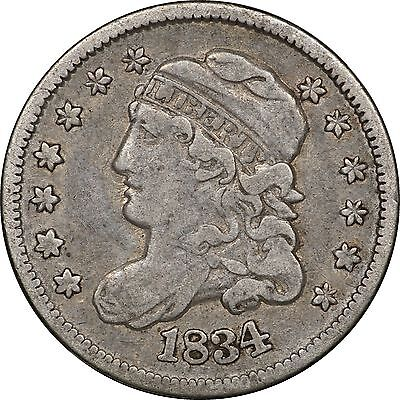 1834 Capped Bust Half Dime, Very Fine VF