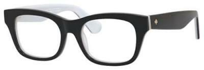 KATE SPADE Eyeglasses JONNIE 0QOP Black White 48MM