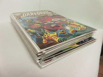 Daredevil Comics Lot of 13 includes #115 key issue 7.0 condition!