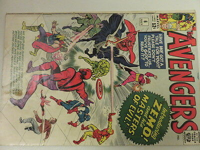 Avengers #6 Comic 1964 Silver Age Zemo Masters of Evil VG+