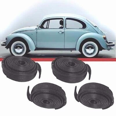VW BUG Classic AIR COOLED SUPER BEETLE FENDER BEADING 4 PACK BLACK Wing Type 1 2