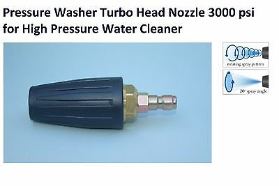 TURBO MASTER HEAD ROTATING NOZZLE 3000 psi 4 HIGH PRESSURE WASHER WATER CLEANER