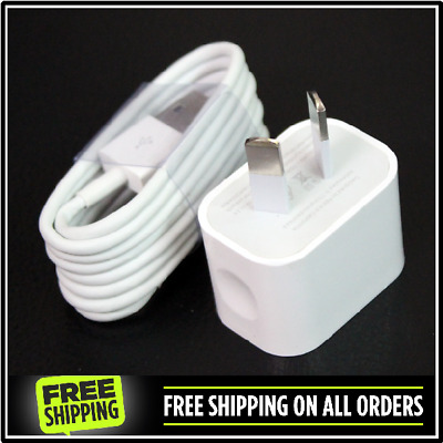 AC Wall Charger Apple iPhone 8 / 7 / 6 / 5 - iPod & iPad Mini + Choice of Cable