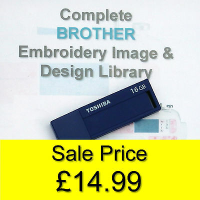 139,877 BROTHER PES Format EMBROIDERY Designs on 16GB USB Stick+ Frozen Designs