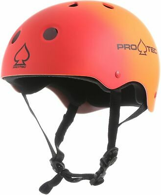 PROTEC HELMET Classic SKATE RED ORANGE FADE PRO-TEC AUST SELLER PRO TEC NEW