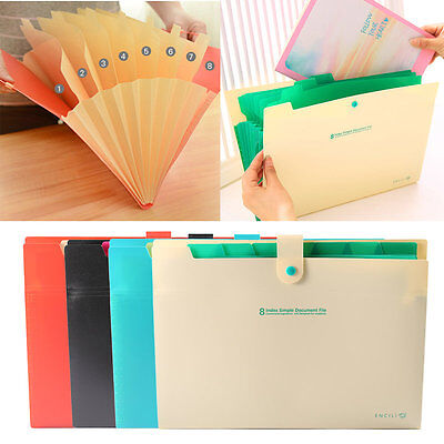 8 Layer A4 Paper File Folder Holder Document Storage Bag Office Supplies AU