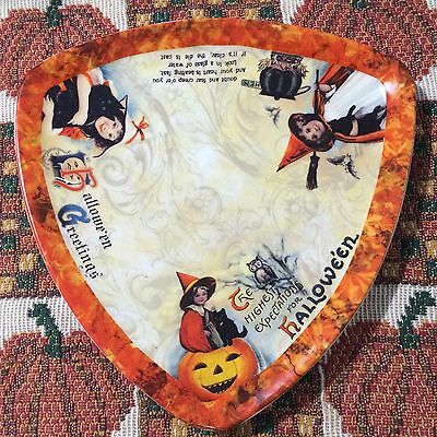 YANKEE CANDLE Halloween Nostalgic Jar Plate - 2011 - Rare - Only one on ebay!