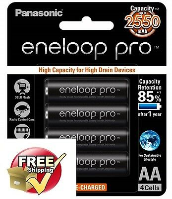 4 Panasonic Eneloop Pro rechargeable AA battery pack MADE IN JAPAN