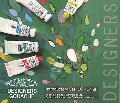 Winsor and Newton Designers Gouache Introductory Set 10 x 14ml NEW Made in UK