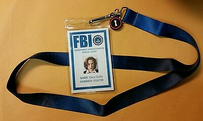X-files TV Series Lanyard & ID Badge-Dana Scully Licensed costume cosplay prop