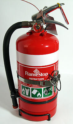 Portable Fire Extinguisher 2.5kg ABE Dry Chemical Powder w/ Wall & Vehicle Brkt.