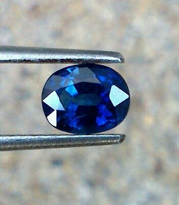 1.04ct GIA Certified Natural Royal Blue Sapphire  Unheated Untreated Oval  VVS