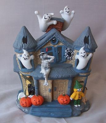 Partylite Halloween Haunted House- Nearly New in Box