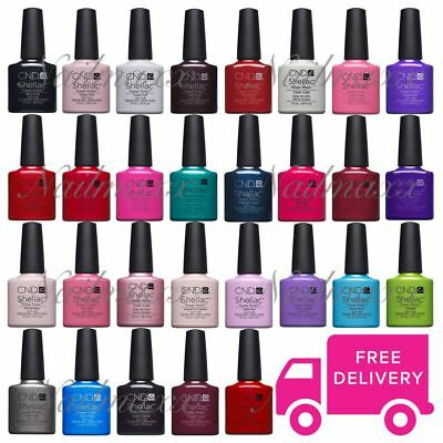 CND Shellac UV Nail Polish Pick From 139+ Colours,Top & Base,New Nude Collection