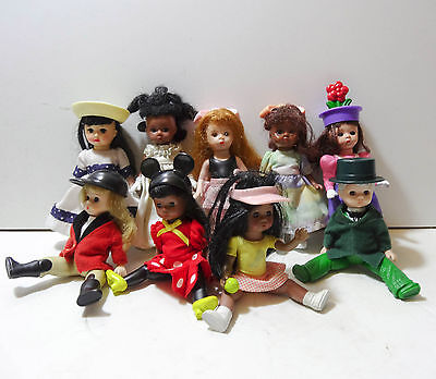 Collection Of 9 Small Madame Alexander Dolls From McDonalds - bride Tennis