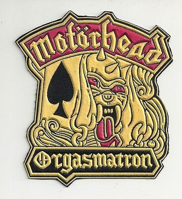 MOTORHEAD Orgasmatron synthetic rubber patch RARE