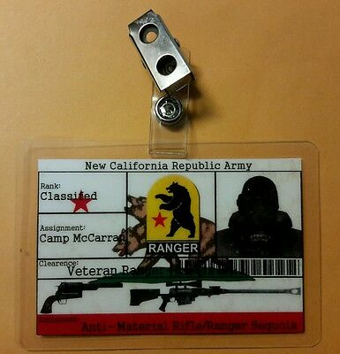 Fallout ID Badge - New California Republic Army cosplay prop costume
