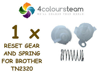 1x RESET GEAR AND SPRING FOR BROTHER  TN2320 TN 2320 DCP-L2500d DCP-L2540DW