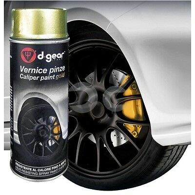 Vernice Alta Temperatura Per Pinze Freno D-Gear Oro 400Ml Auto Tuning Colore New