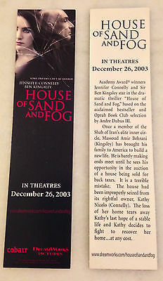 HOUSE OF SAND AND FOG (2003) Bookmark (2); Promo; Jennifer Connelly Ben Kingsley