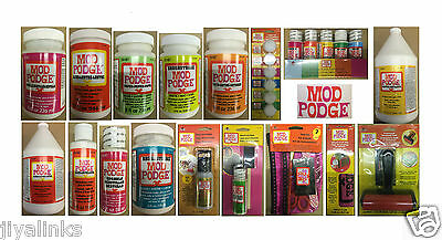 Mod Podge Gloss Matte Glue Sealer Outdoor Paper Sparkle Hard Coat Satin Gold
