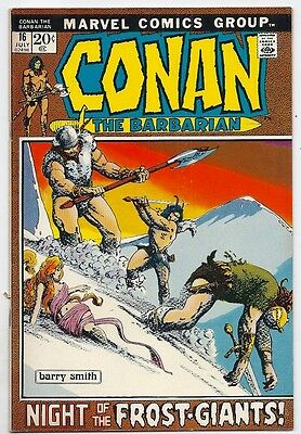 (1972) Marvel Comics Conan The Barbarian #16 Barry Smith Cover And Art! 6.0 / Fn