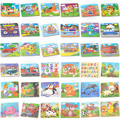 20pcs Colorful Animal Puzzle Jigsaw Toddler Kids Early Learning Toys Educational
