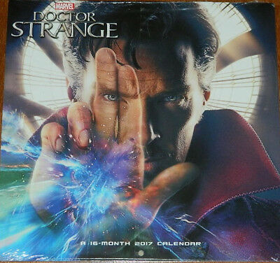 Doctor Strange Movie Photo Images 16 Month 2017 Wall Calendar Marvel, NEW SEALED