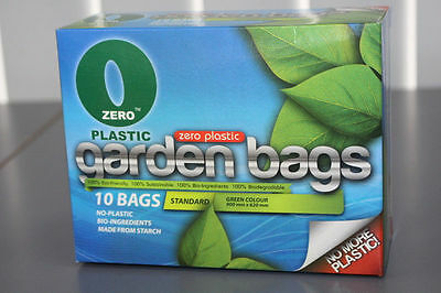 Zero-Plastic™ 100% Biodegradable Garden Waste Bags, Clean-Up; 10 or 70 bags.