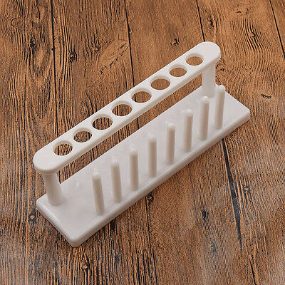 8 Holes Plastic Test Tube Rack Testing Tubes Holder Storage Stand Lab Supplies