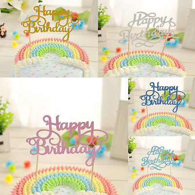 Birthday Cake Topper Happy Birthday Candle Party Supplies Fashion Decorations