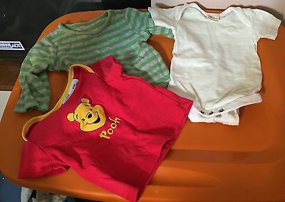 3-6 months Boys 3 set lot One Piece Shirt Red Green Winnie the Pooh Disney Baby