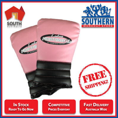 MADISON Fighting Fit Punch Boxing Mitts - Ladies Pink (Small) FREE POSTAGE