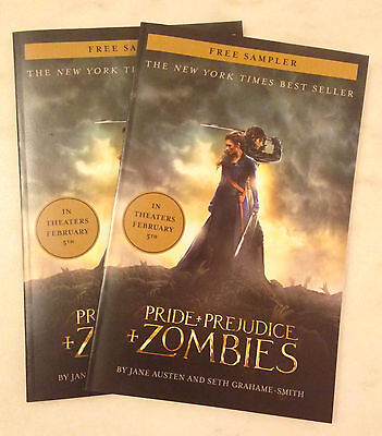 PRIDE AND + & PREJUDICE AND + & ZOMBIES (2016) Movie Promo Sampler Book Lot of 2