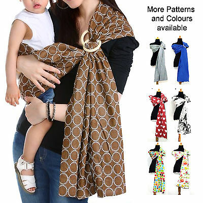 Cotton Baby Ring Sling Multiple Ways Carrier Pouch Wrap Infant Newborn Toddler