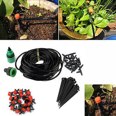 5/10/25M Micro Drip Irrigation System Plant Self Watering Drippers DIY Hose Kits