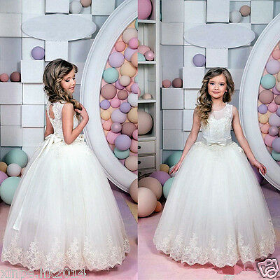 Girls Party Flower Formal Princess Prom Bridesmaid Wedding Christening Dress