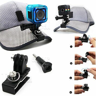 Hat Cap Clip Mount Clamp For Gopro Hero 6/5/4/3+/Xiaomi Yi 4K SJCAM Cam + Screw